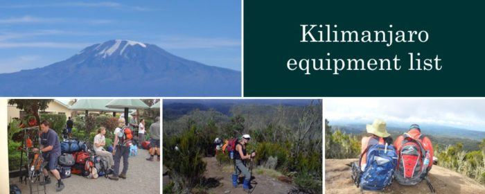 Kilimanjaro equipment list