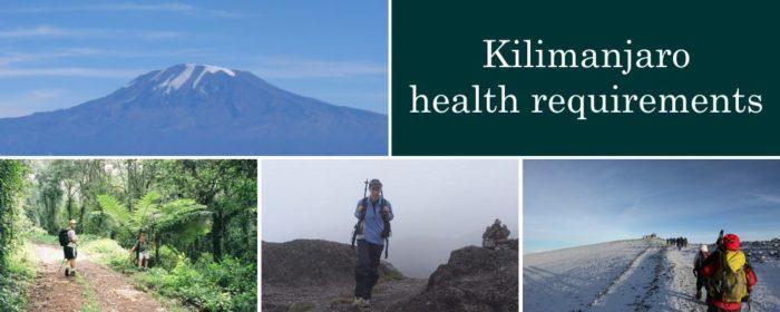 Kilimanjaro health requirements